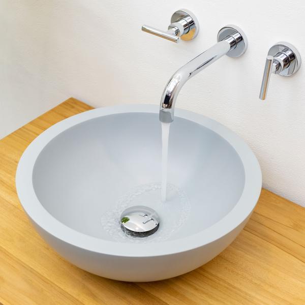 Terrazzo Waschbecken TMO-01 poliert grau