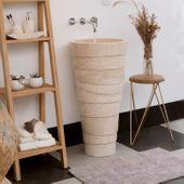 Marmor Waschtisch-Säule 'LEPET' 85 cm creme Bild 1