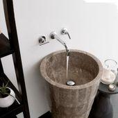 Marmor Waschtischsäule 'LEPET' grau Bild 2