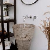 Waschtisch-Säule Marmor 'ALPHA' Slim grau Bild 3
