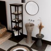 Waschtisch-Säule Marmor 'ALPHA' Slim grau Bild 2