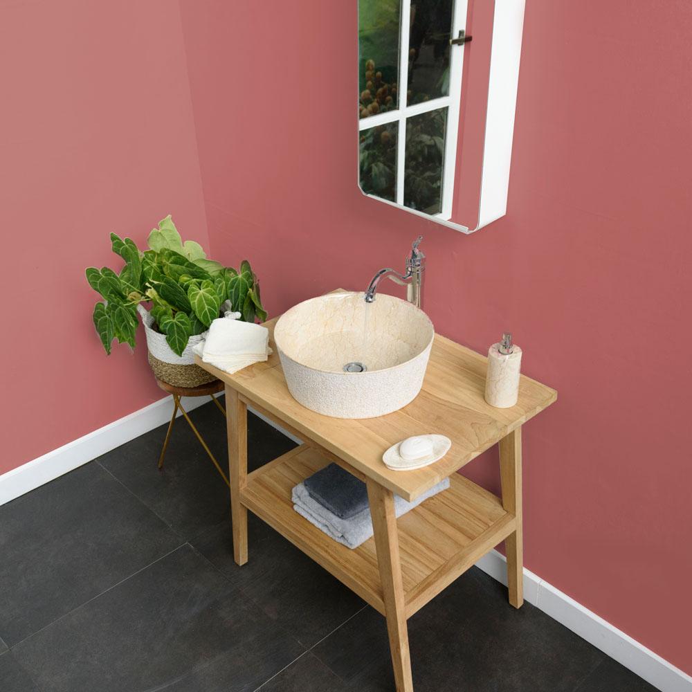 Marmor Waschbecken Tora innen poliert creme