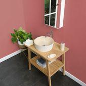 Marmor Waschbecken Tora innen poliert creme Bild 1