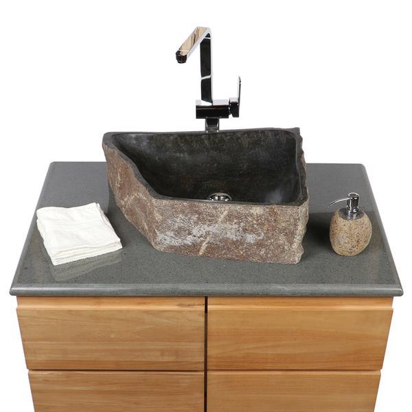 Megalith Waschbecken innen poliert