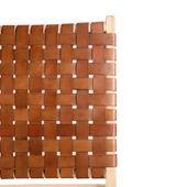 Klapp-Stuhl 'Selayar' Cognac Brown aus Teakholz und Leder Bild 3