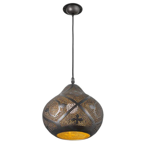 Kupfer Lampe BOLA 30 cm gold schwarz