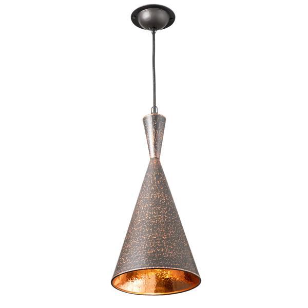 Kupfer Lampe Terompet 20 x 45 cm schwarz gold