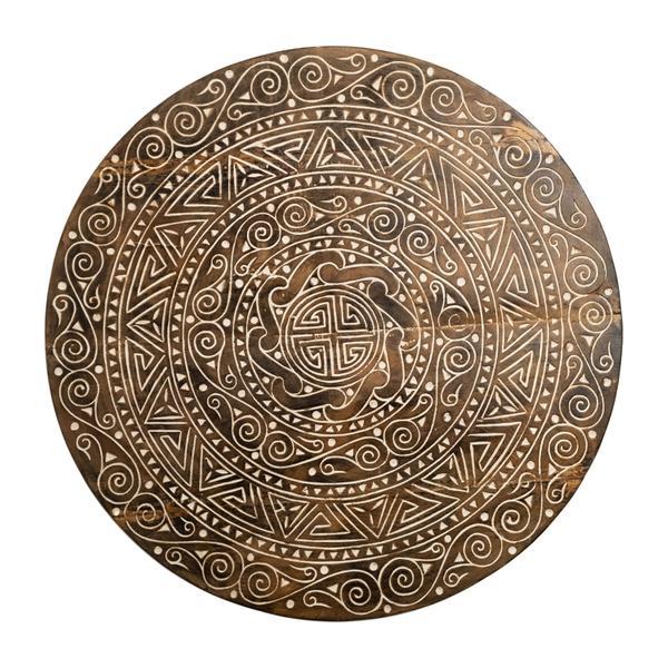 Wanddekoration Maya aus Suar-Holz in verschiedene Größen