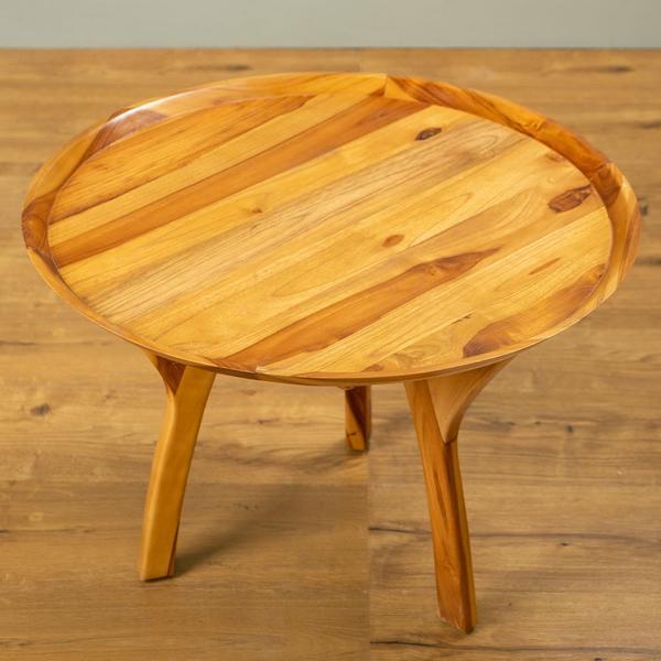 Tisch Karo 45 cm aus Teakholz