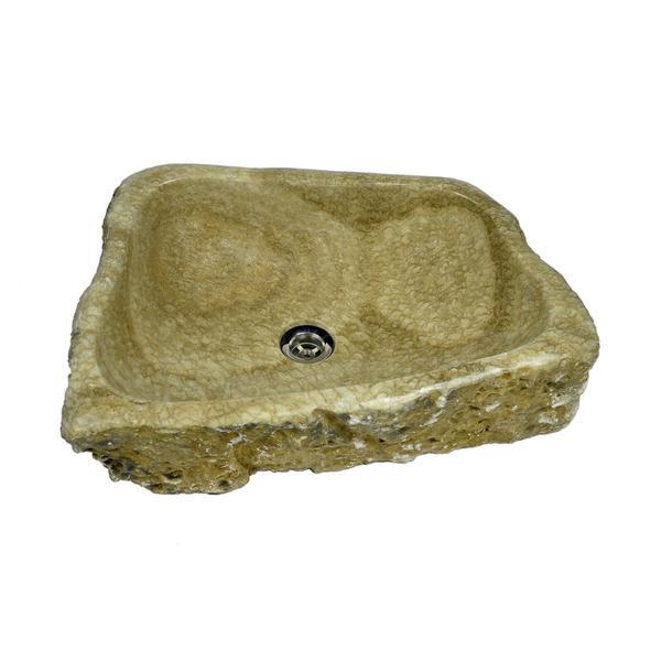 Onyx Waschbecken braun 57x42x15 cm