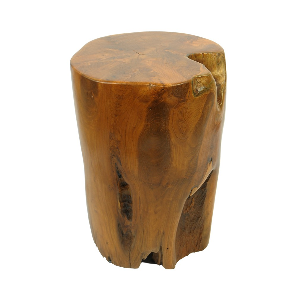 teakholz hocker elefantenfu lasiert bei wohnfreuden kaufen. Black Bedroom Furniture Sets. Home Design Ideas