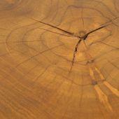 WOHNFREUDEN Teakholz-Hocker rund natur lasiert 40 cm Beistelltisch Baumstamm