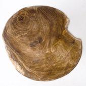 WOHNFREUDEN Teak Holz Hocker mit 3 Füssen  rund geschliffen Sitzen Beistelltisch