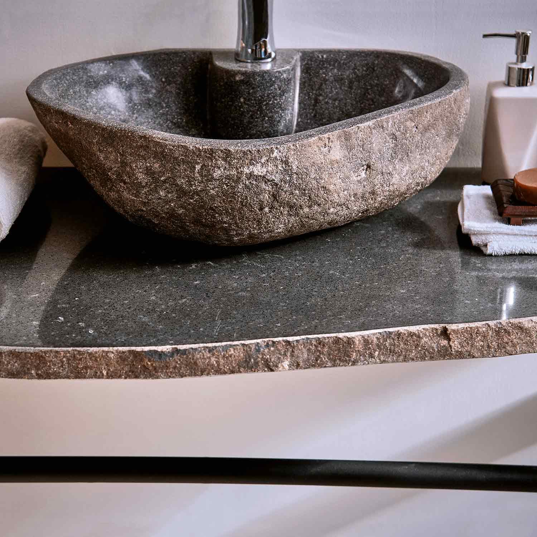 Naturstein Waschtischplatte ca 20x20 cm