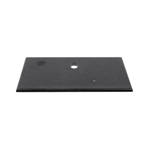 Flußstein Waschtisch Natursteinplatte anthrazit poliert 93x56,5x3 cm