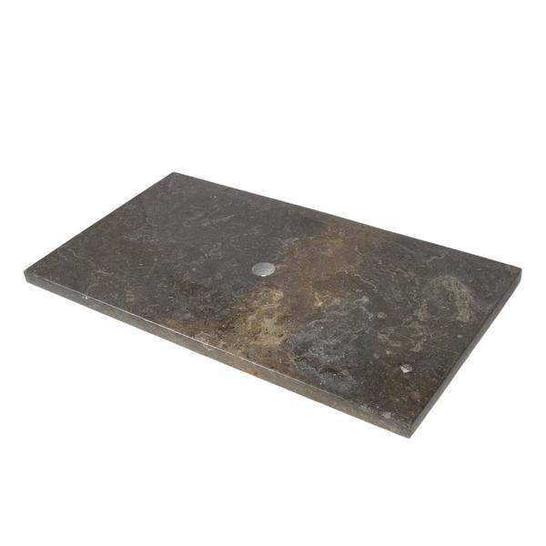 Marmor Waschtisch Natursteinplatte schwarz poliert 93x51,5x3 cm