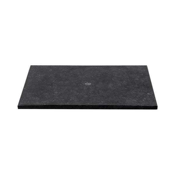 Marmor Waschtisch Natursteinplatte schwarz poliert 93x56,5x3 cm