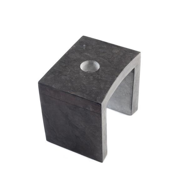 Marmor Armaturenhalterung für ovale Säule schwarz