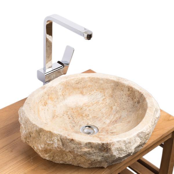 Onyx Waschbecken innen poliert 49x43x15 cm