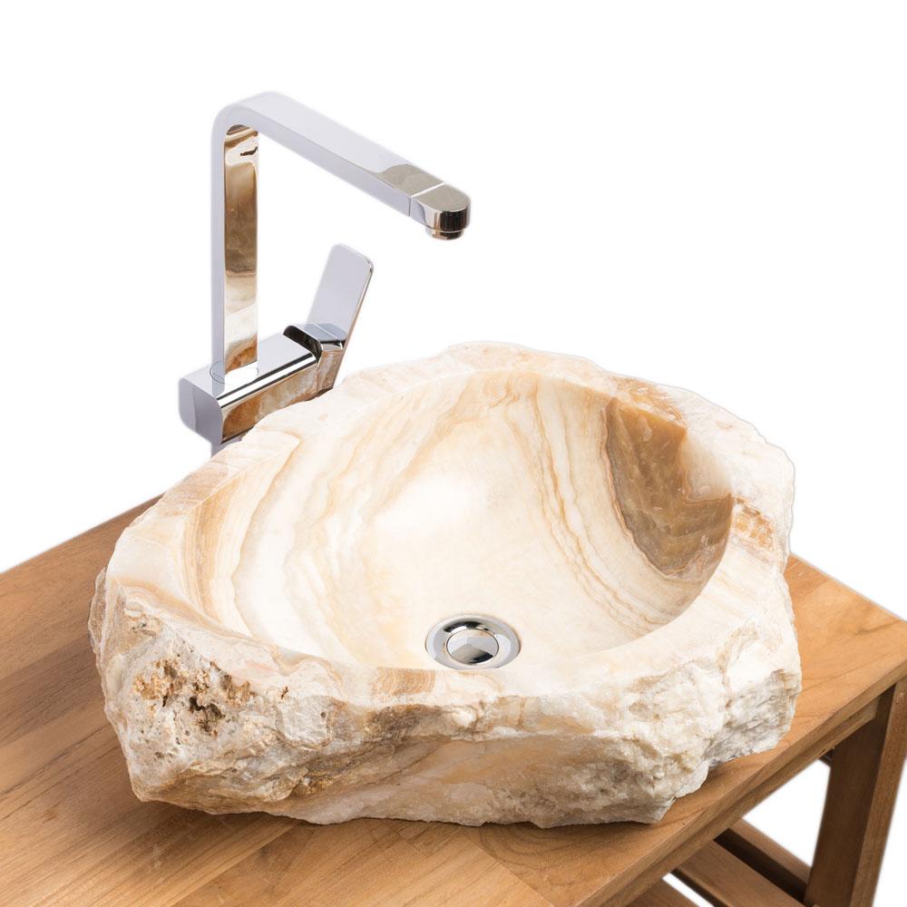 Onyx Waschbecken innen poliert 51x39x15 cm