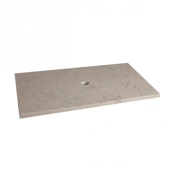 Marmor Waschtisch Natursteinplatte creme poliert 93x51,5x3 cm