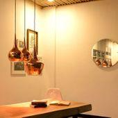 WOHNFREUDEN Kupfer Lampenschirm Jokar gold Grösse S 30x30x40 cm Deckenlampe