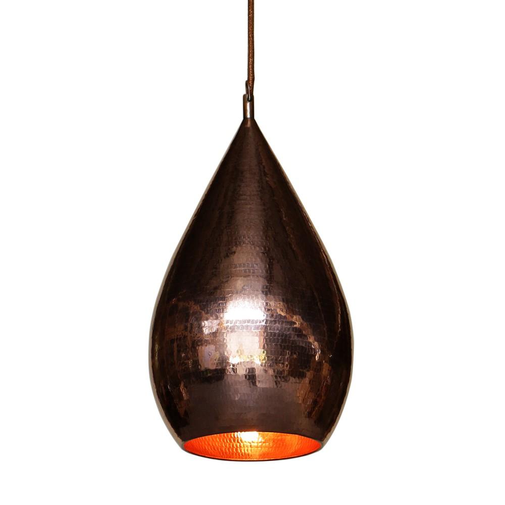 WOHNFREUDEN Kupfer Lampe GOLD BRONZE Innen Lampenschirm Hängeleuchte 23x23x40 cm