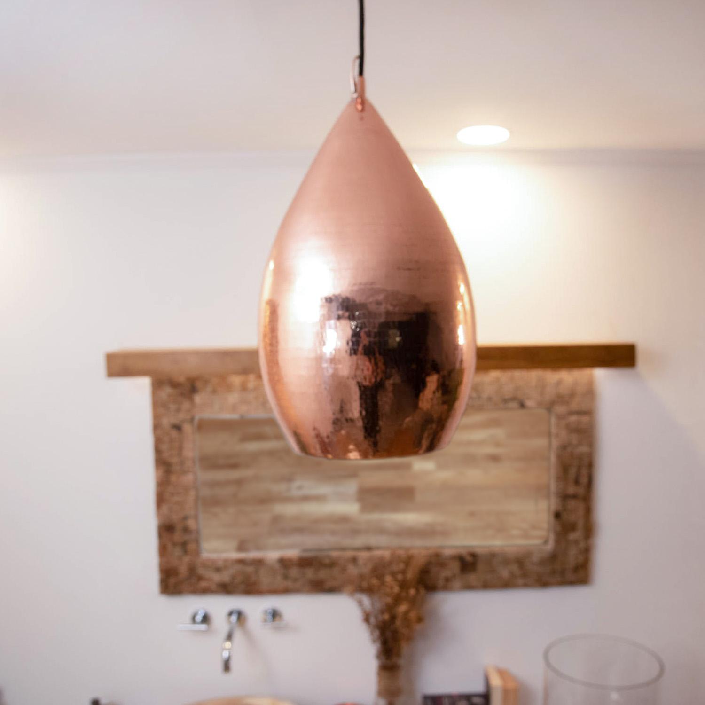 Kupferlampe Pendelleuchte GOLD 23x23x40 cm