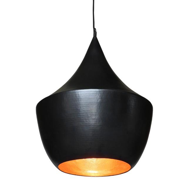 WOHNFREUDEN Kupfer Lampenschirm schwarz 45x45x65 cm Hänge-leuchte Deckenlampe