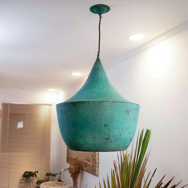 Kupferlampe grün Gr M 45 x 65 cm