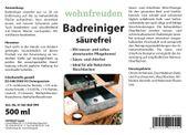 WOHNFREUDEN Naturstein Waschbecken Pflege Spray Badreiniger säurefrei + Politur 3