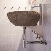 WOHNFREUDEN Waschbecken-Halterung Wandhalterung für Befestigung für die Wand
