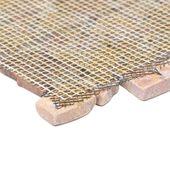 WOHNFREUDEN 1 qm Naturstein Marmor Mosaik Fliesen Boden Wand rot poliert 20x20cm 6