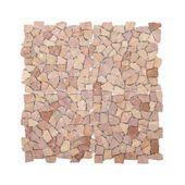 WOHNFREUDEN 1 qm Naturstein Marmor Mosaik Fliesen Boden Wand rot poliert 20x20cm