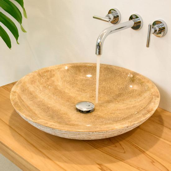 Onyx Marmor – Waschbecken LEMPER gehämmert 50 cm