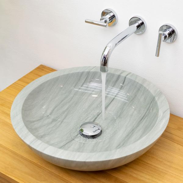Sandstein Waschbecken 02 poliert 45x45x12 cm