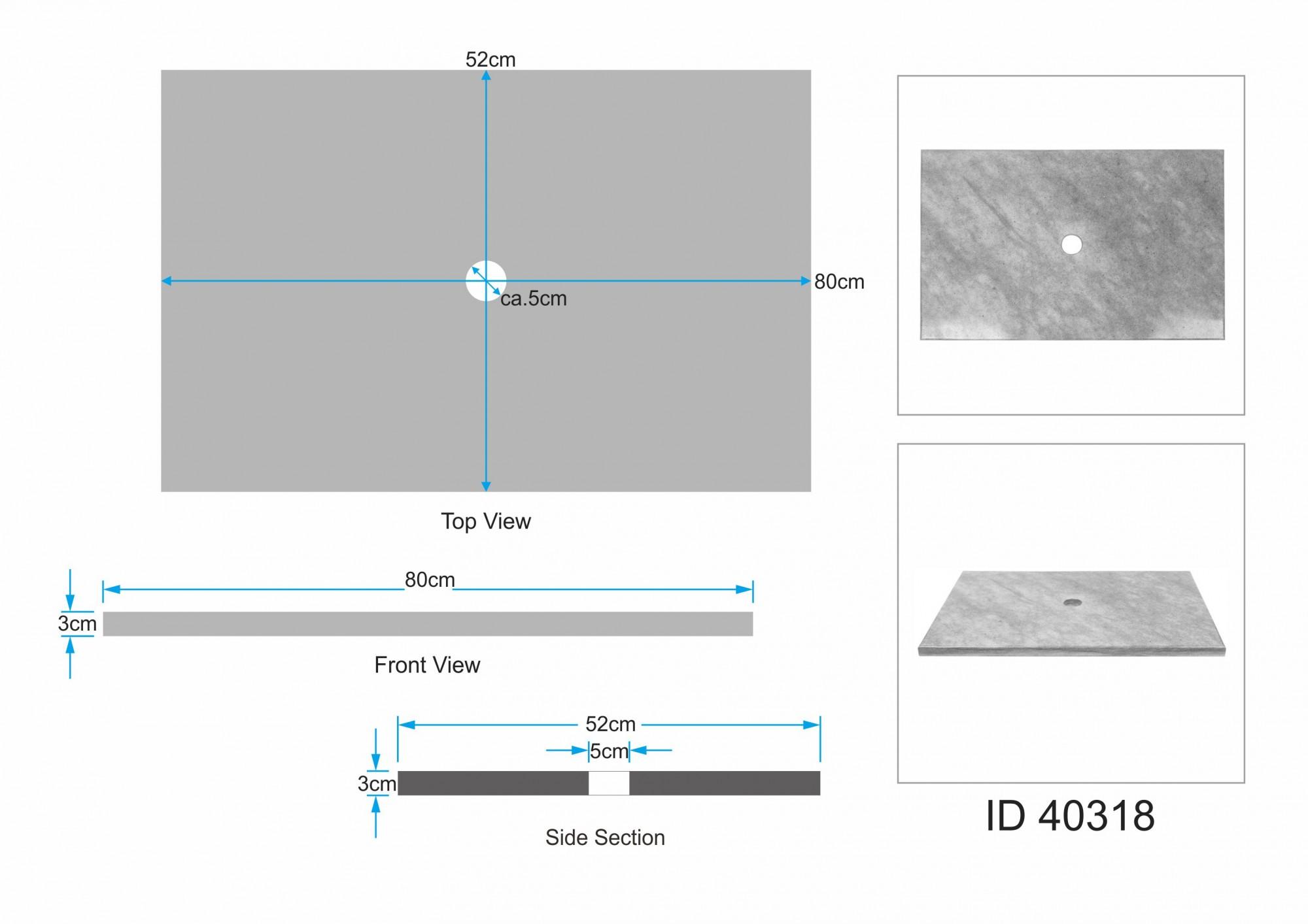 sandstein waschtischplatte 80x52x3 cm bei wohnfreuden kaufen. Black Bedroom Furniture Sets. Home Design Ideas