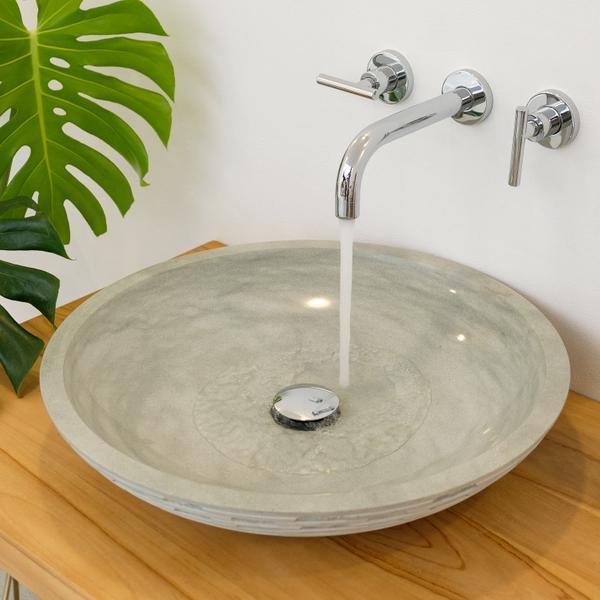 Sandstein Waschbecken Lemper gehämmert 50 cm