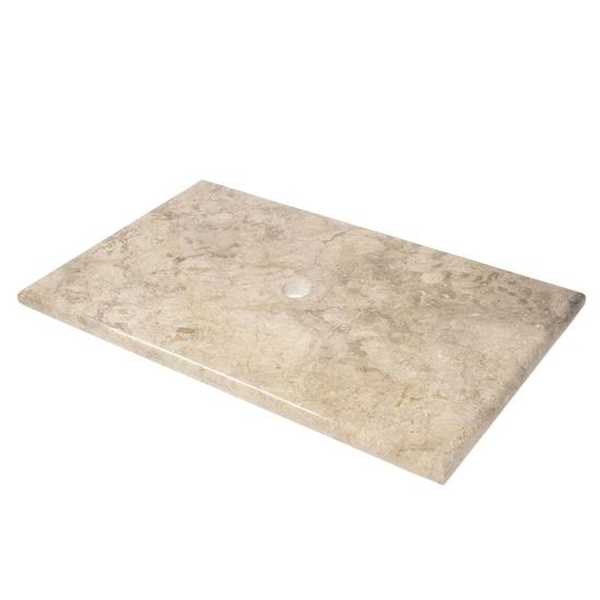 Marmor Waschtisch-Platte grau 93x56,5x3 cm