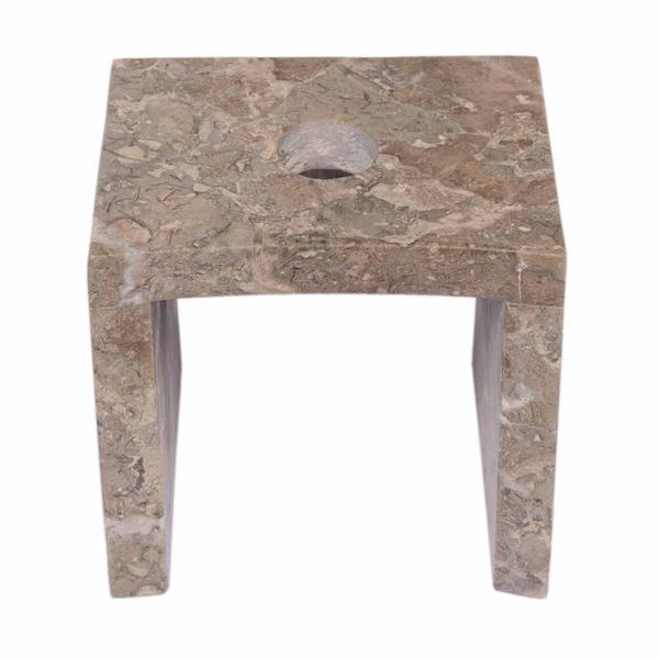 Marmor Armaturenhalterung grau für ovale Säule