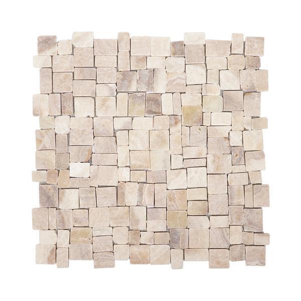 1 m² Onyx Mosaik Fliesen Random poliert 30x30 cm