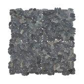 WOHNFREUDEN 1 qm Naturstein Marmor Mosaik Fliesen für Boden Wand schwarz 30x30cm