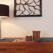 WOHNFREUDEN Teak-holz Kerzenhalter Teelichthalter Wurzel Kerzenständer natur 4