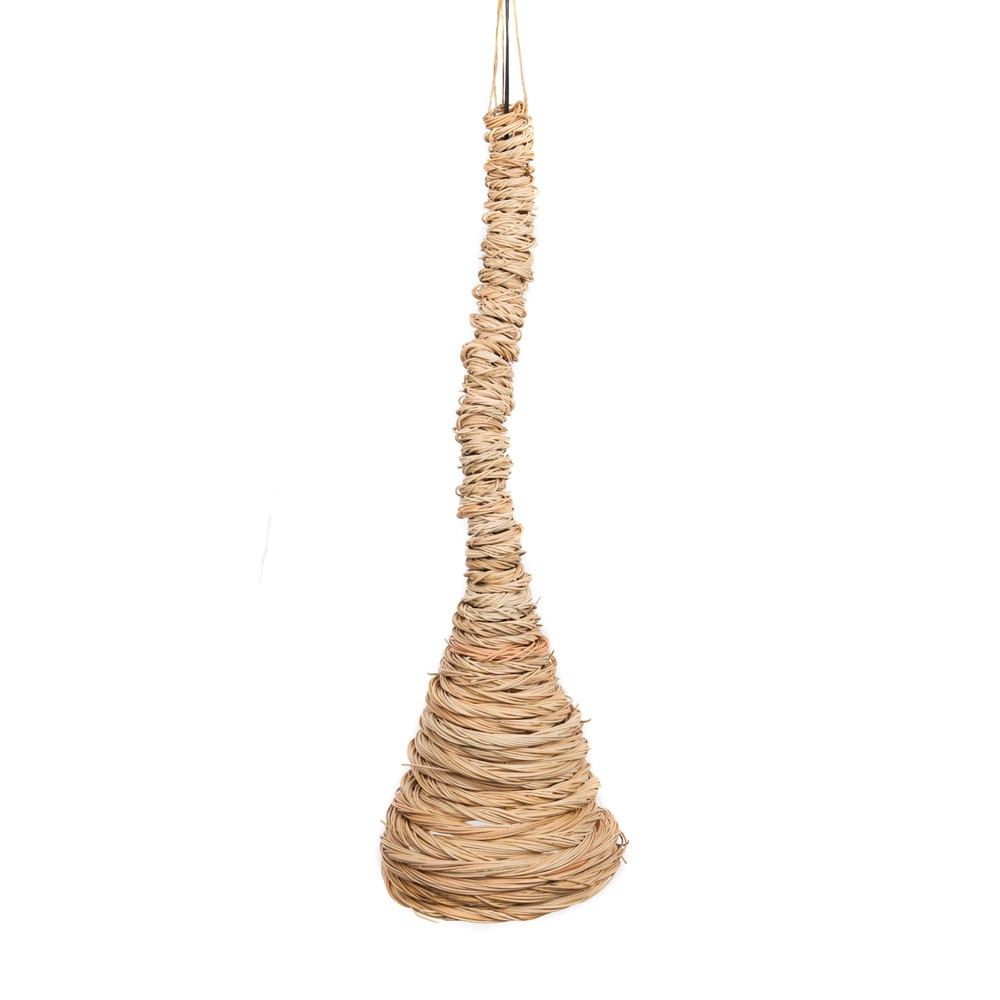 WOHNFREUDEN Rattan Hänge-lampe Hängeleuchte Lampenschirm natur 30x50cm natur