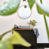 Marmor - Waschbecken LEMPER gehämmert 50 cm schwarz Bild 7