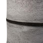 WOHNFREUDEN Waschtisch Säule Marmor gehämmert rund Ø 50x90 cm schwarz Halbsäule 20