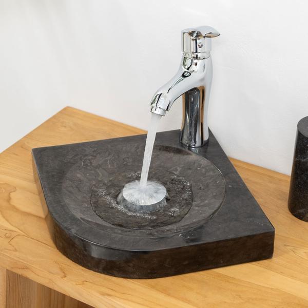 Marmor - Waschbecken SAMBA schwarz 30 cm