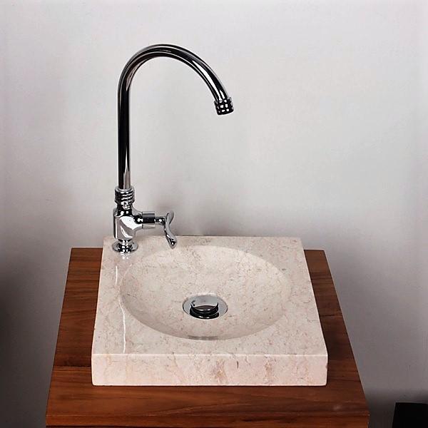 Marmor - Waschbecken TUMBA creme 30cm
