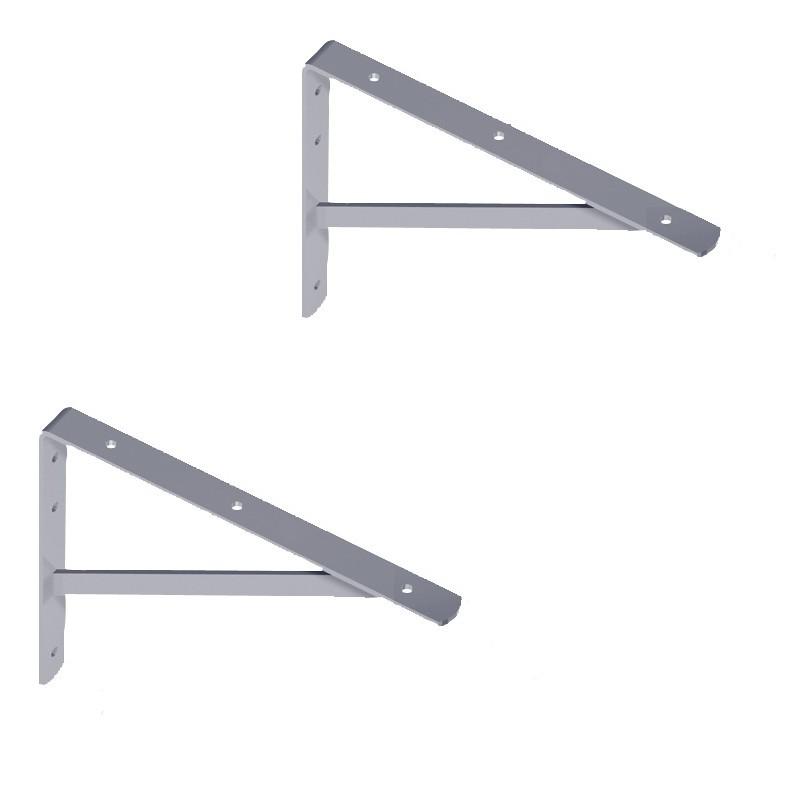 WOHNFREUDEN 2er Set Winkel für Waschtischplatten verzinkt 30x21 cm