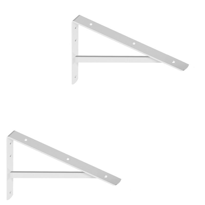 WOHNFREUDEN 2er Set Winkel für Waschtischplatten weiss 30x21 cm